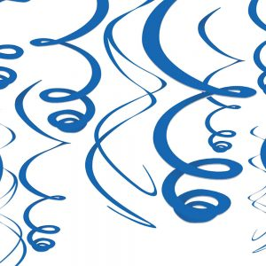 Espirales Decorativos – 12 pzas – AZUL STANDARD