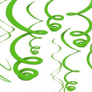 Espirales Decorativos – 12 pzas – VERDE LIMON