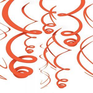 Espirales Decorativos – 12 pzas – NARANJA