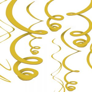 Espirales Decorativos – 12 pzas – AMARILLO