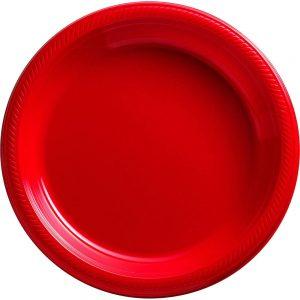 Plato Grande/Dinner – 20 pzas – ROJO