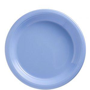 Plato Mediano/Salad – 20 pzas – AZUL CIELO