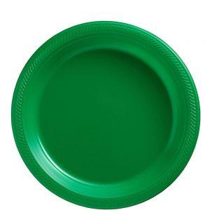 Plato Mediano/Salad – 20 pzas – VERDE BANDERA