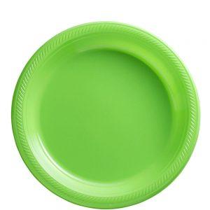 Plato Mediano/Salad – 20 pzas – VERDE LIMON