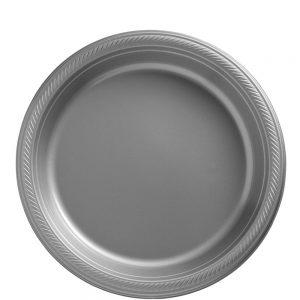 Plato Mediano/Salad – 20 pzas – PLATA