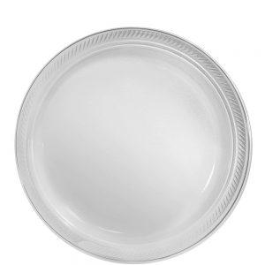 Plato Mediano/Salad – 20 pzas – TRANSPARENTE