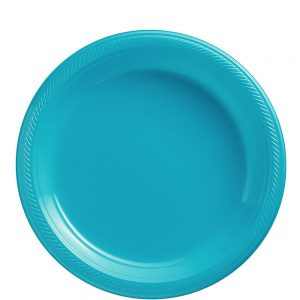Plato Mediano/Salad – 20 pzas – AZUL ACUA