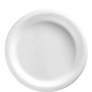Plato Mediano/Salad – 20 pzas – BLANCO