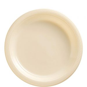 Plato Mediano/Salad – 20 pzas – VAINILLA