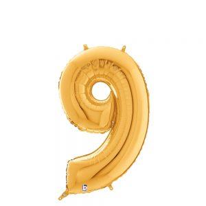 Número 9 Dorado 14in
