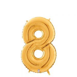 Número 8 Dorado 14in