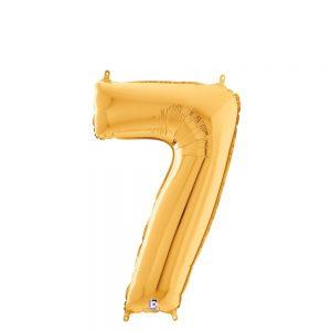 Número 7 Dorado 14in