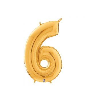 Número 6 Dorado 14in