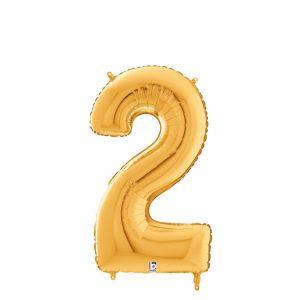 Número 2 Dorado 14in