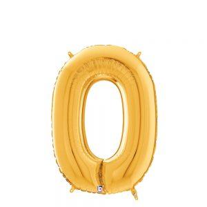 Número 0 Dorado 14in