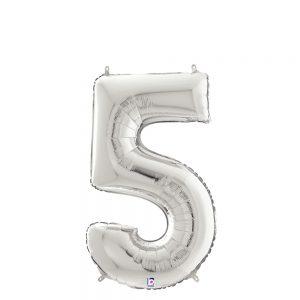 Número 5 Plata 14in