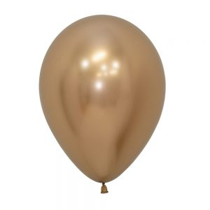 Globo Latex – Cromo Oro – 12in