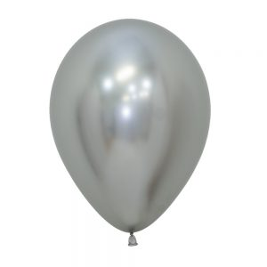 Globo Latex – Cromo Plata – 12in