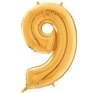 Número 9 Dorado 34in