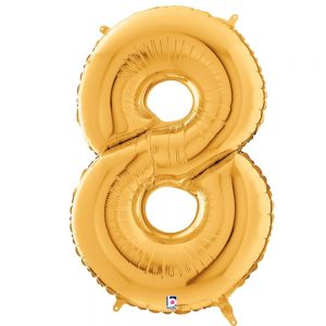 Número 8 Dorado 34in