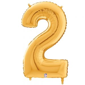 Número 2 Dorado 34in