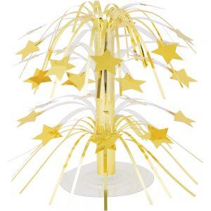 Estrella Oro Cascada Centro de Mesa
