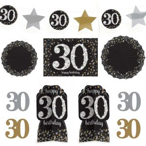 30 Años Kit Sparkling Celebration Room Decor