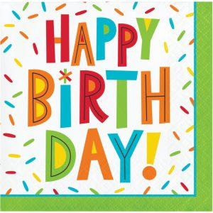 Birthday Fun Servilleta Coctel