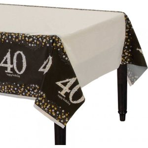 40 Años Sparkling Celebration Mantel Rectangular