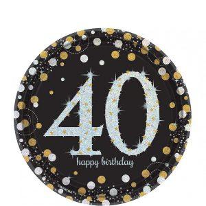 40 Años Sparkling Celebration Platos Postre