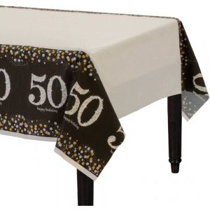 50 Años Sparkling Celebration Mantel Rectangular