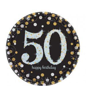 50 Años Sparkling Celebration Platos Postre