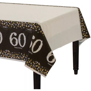 60 Años Sparkling Celebration Mantel Rectangular
