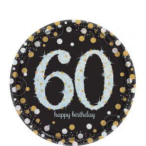 60 Años Sparkling Celebration Platos Postre