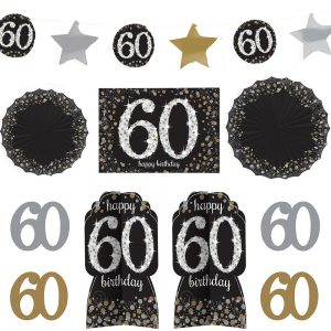 60 Años Kit Sparkling Celebration Room Decor