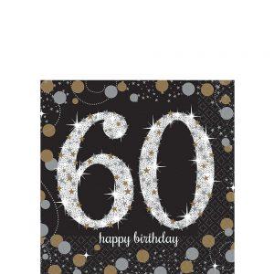 60 Años Sparkling Celebration Servilletas Coctel