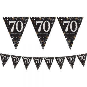 70 Años Sparkling Celebration Pennant Banner