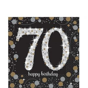 70 Años Sparkling Celebration Servilletas Lunch