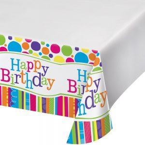 Bright and Bold Birthday Mantel Rectangular