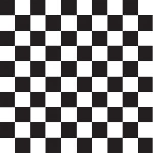 Black Checker – Mantel Redondo