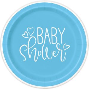 Blue Hearts Baby Shower Plato Lunch