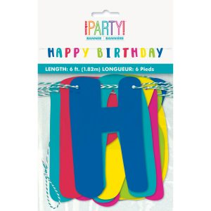 Color Birthday Pennant Banner