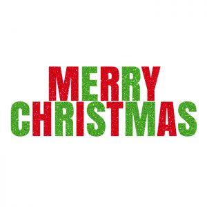 Merry Christmas – Glitter Banner
