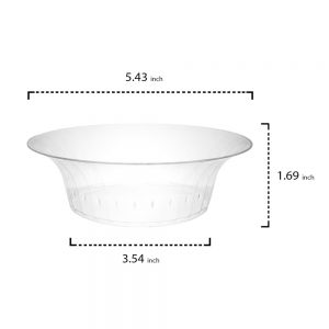 Bowl Deluxe Transparente 10 oz