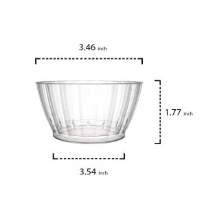 Bowl Deluxe Transparente 6 oz