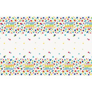 Rainbow Dots Birthday Mantel Rectangular