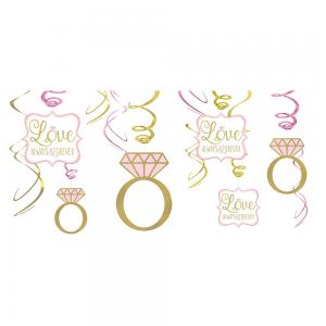 Sparkling Pink Wedding Espiral Decorativo