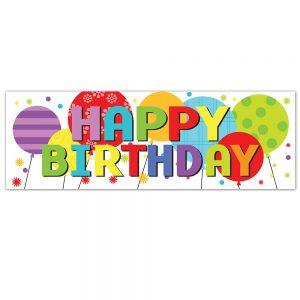 Birthday Balloons Banner