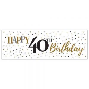 Birthday 40 Classy Banner