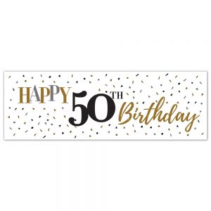 Birthday 50 Elegant Banner (Copy)